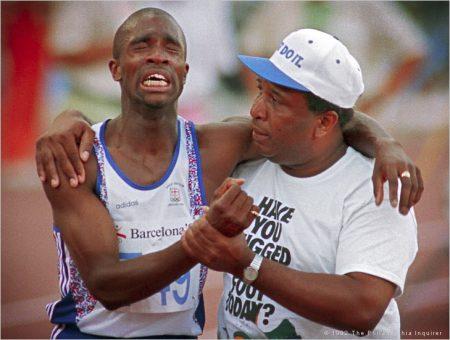 PHIL'S FAV:  Derek Redmond's Unforgettable Olympic Race- Never Give Up!