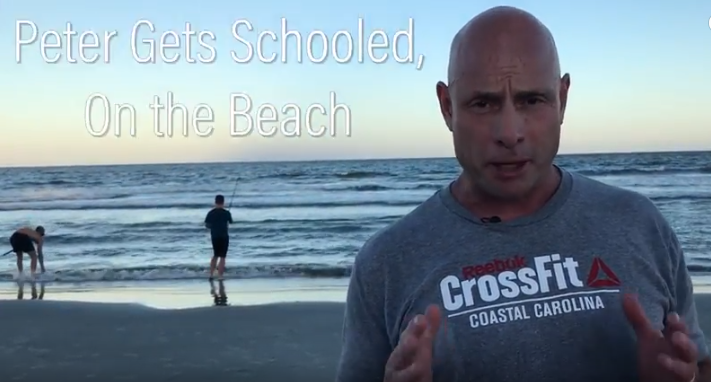FIVE MIN. POWER MESSAGE #46: Peter gets schooled, on the Beach! 8-20-17