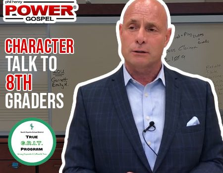POWER MESSAGE SPECIAL #67: Character Talk #2 to 8th Graders