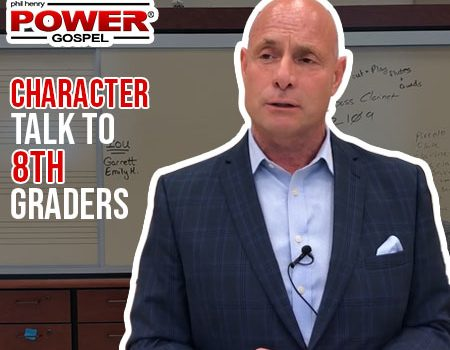 POWER MESSAGE *SPECIAL* #67: Character Talk to 8th Graders, 6-24-18